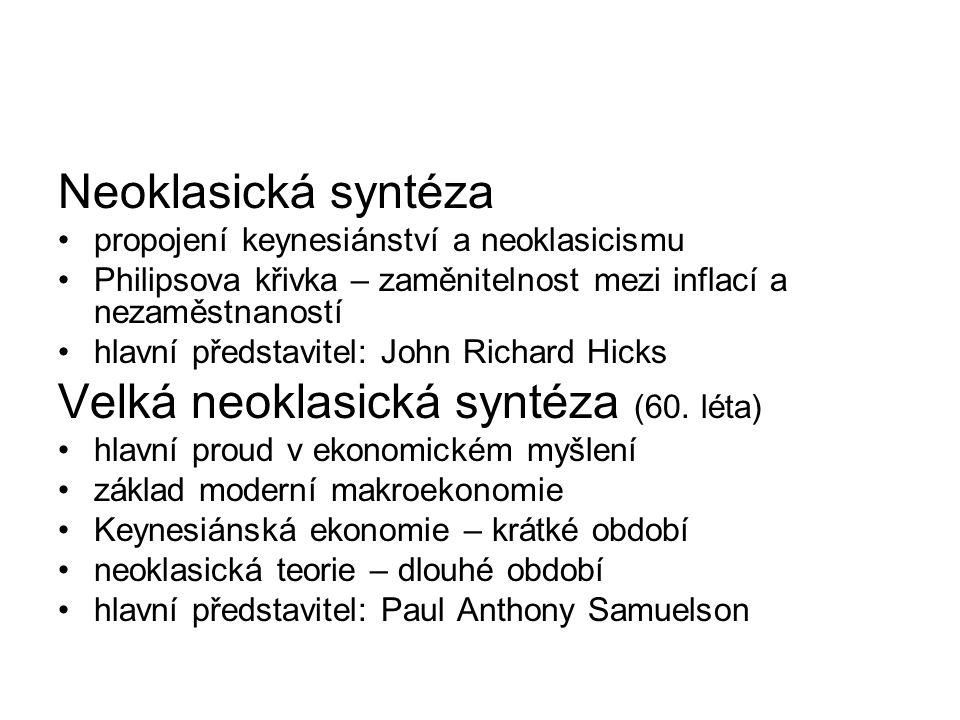 Velká neoklasická syntéza (60. léta)