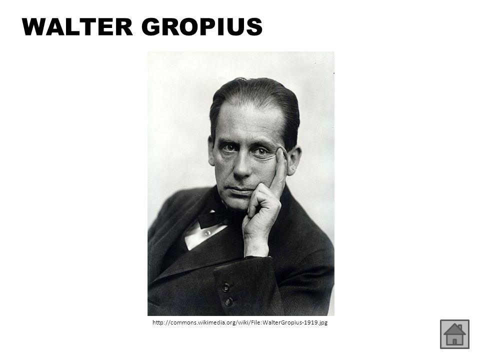 Walter Gropius http://commons.wikimedia.org/wiki/File:WalterGropius-1919.jpg