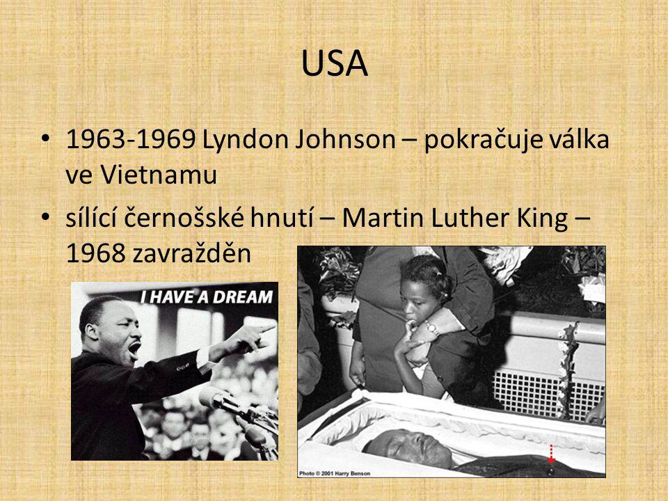 USA 1963-1969 Lyndon Johnson – pokračuje válka ve Vietnamu