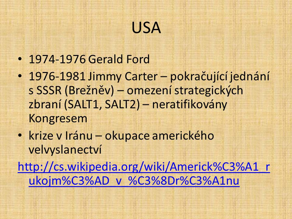 USA 1974-1976 Gerald Ford.