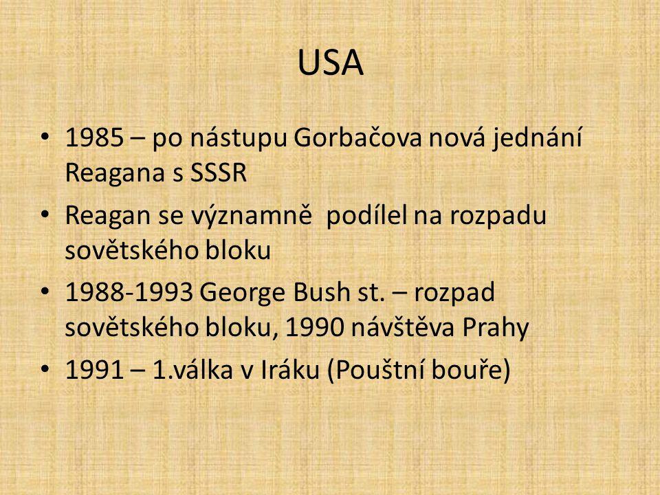 USA 1985 – po nástupu Gorbačova nová jednání Reagana s SSSR