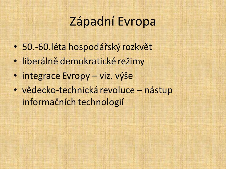 Západní Evropa 50.-60.léta hospodářský rozkvět