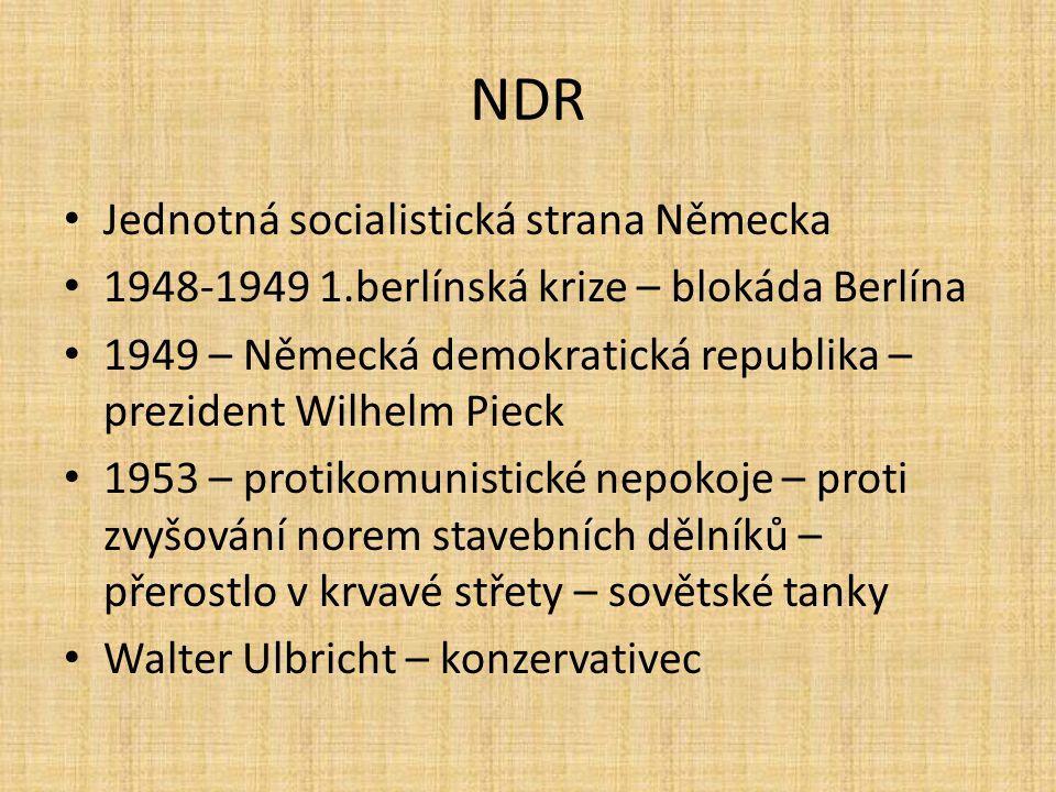NDR Jednotná socialistická strana Německa