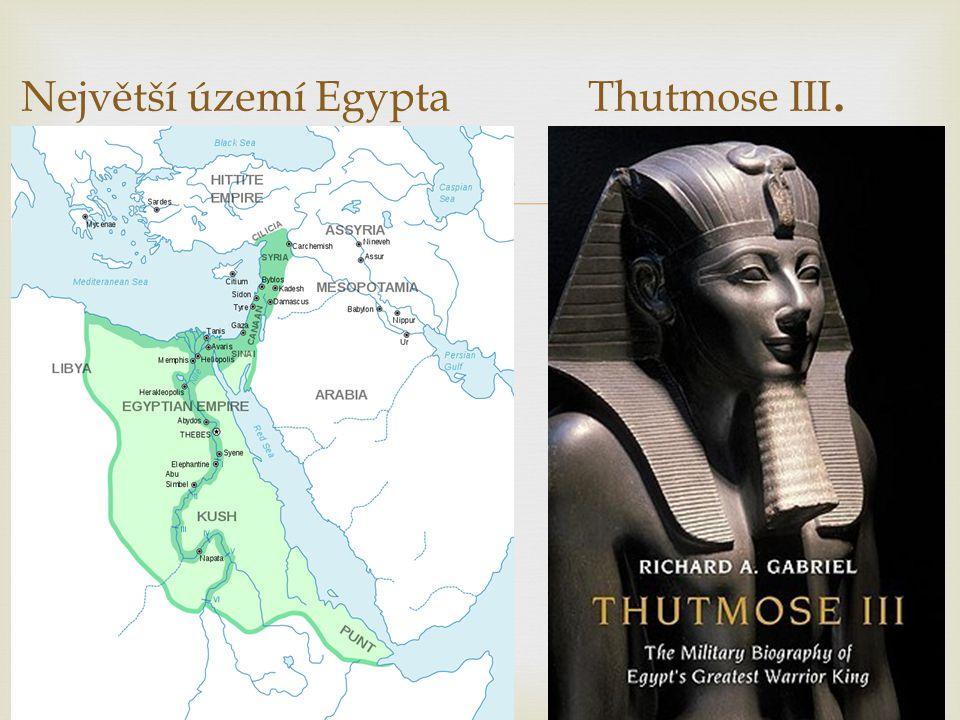 Největší území Egypta Thutmose III.