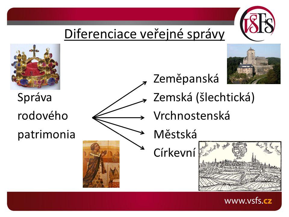 Diferenciace veřejné správy