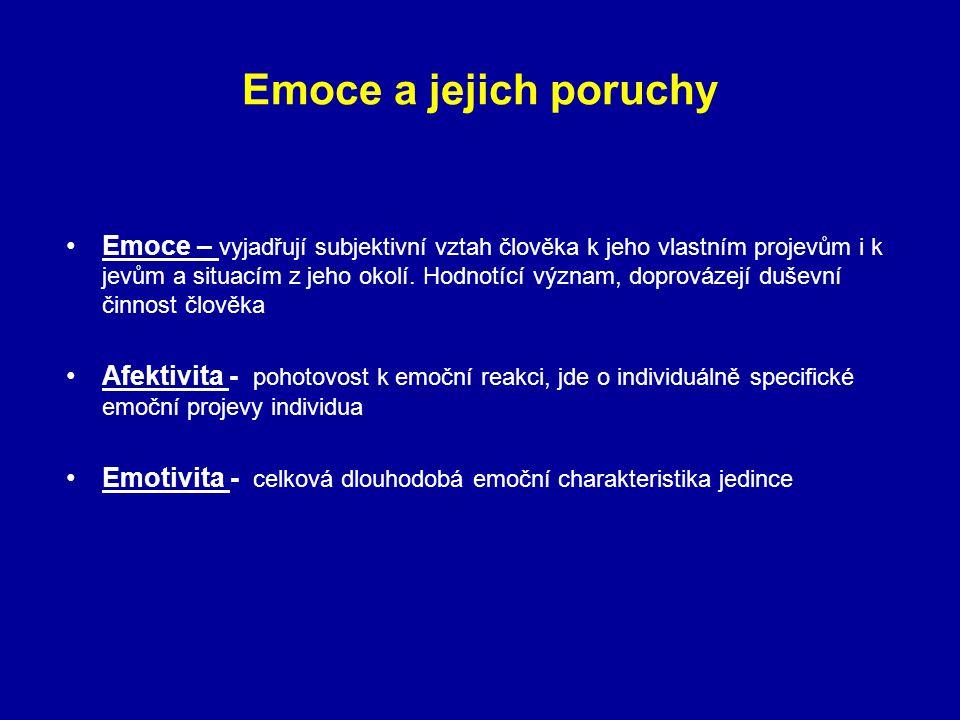 Emoce a jejich poruchy