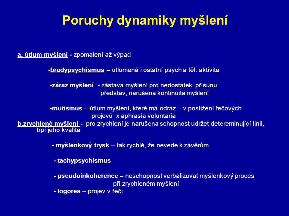 Poruchy dynamiky myšlení