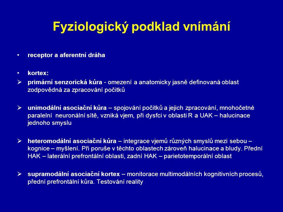 Fyziologický podklad vnímání