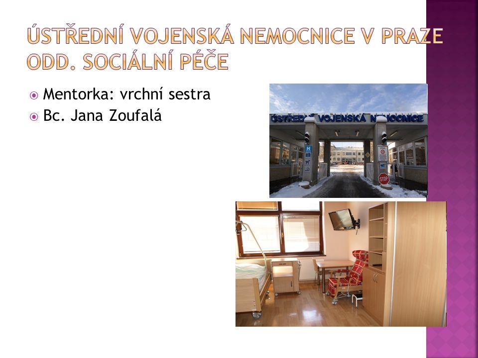 Ústřední vojenská nemocnice v Praze Odd. sociální péče