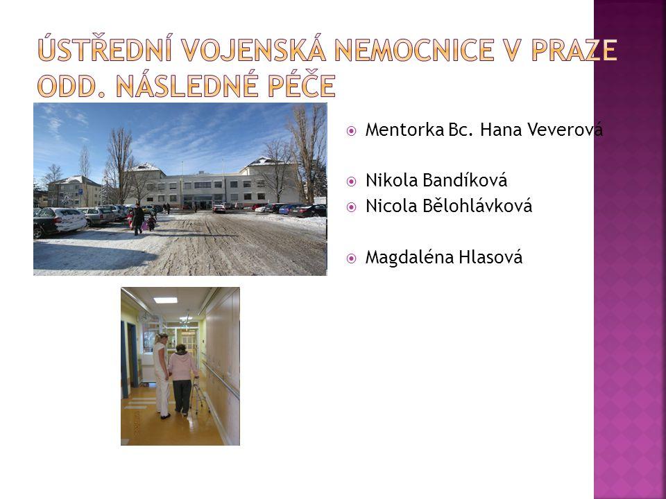 Ústřední vojenská nemocnice v Praze Odd. následné péče