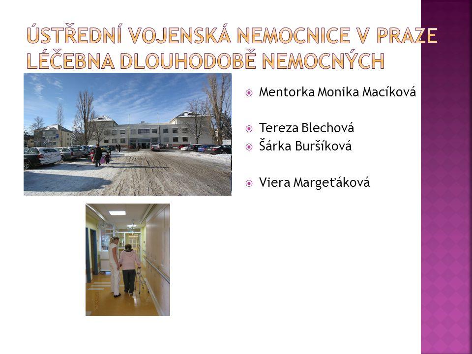 Ústřední vojenská nemocnice v Praze Léčebna dlouhodobě nemocných
