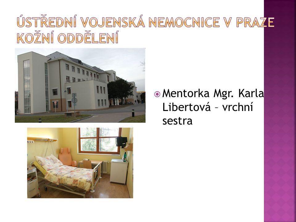 Ústřední vojenská nemocnice v Praze Kožní oddělení