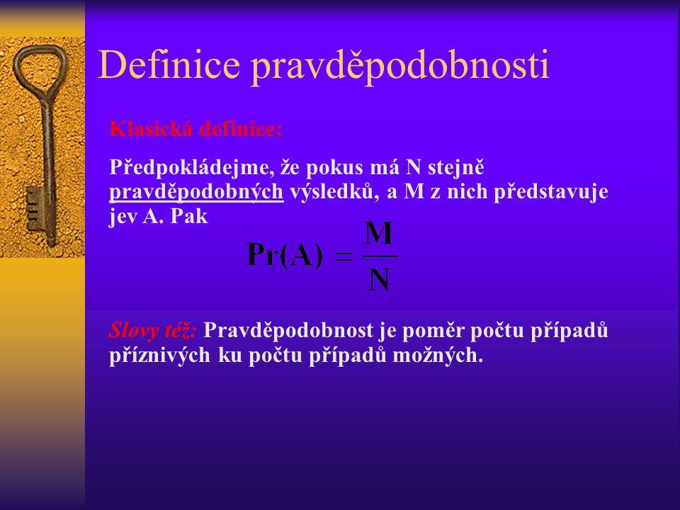 Definice pravděpodobnosti