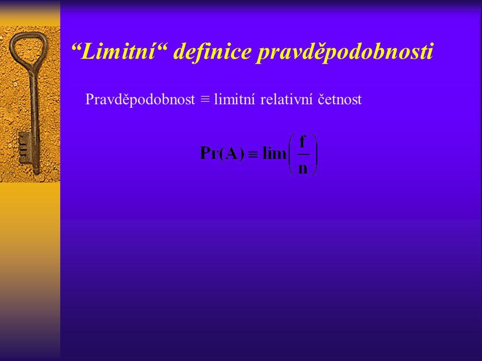 Limitní definice pravděpodobnosti