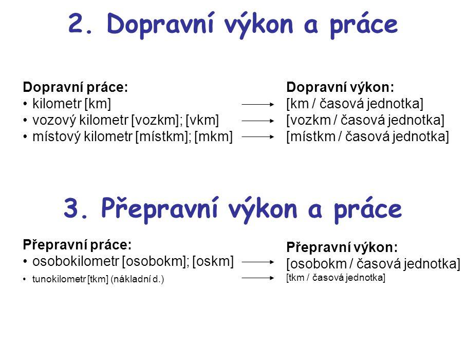 3. Přepravní výkon a práce
