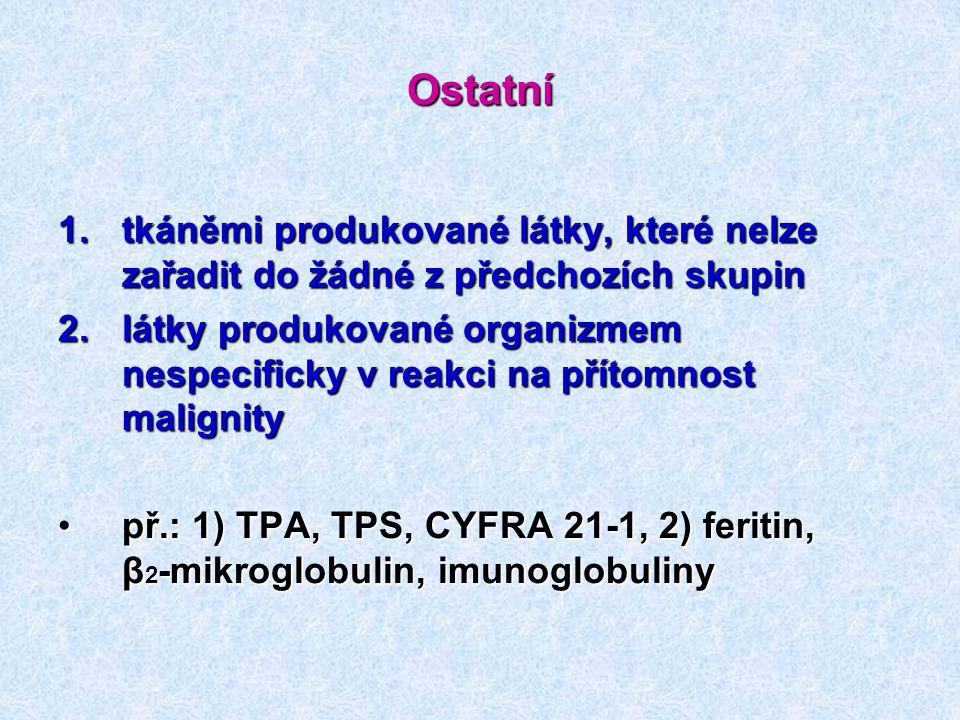 Ostatní tkáněmi produkované látky, které nelze zařadit do žádné z předchozích skupin.
