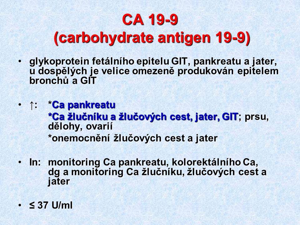 CA 19-9 (carbohydrate antigen 19-9)