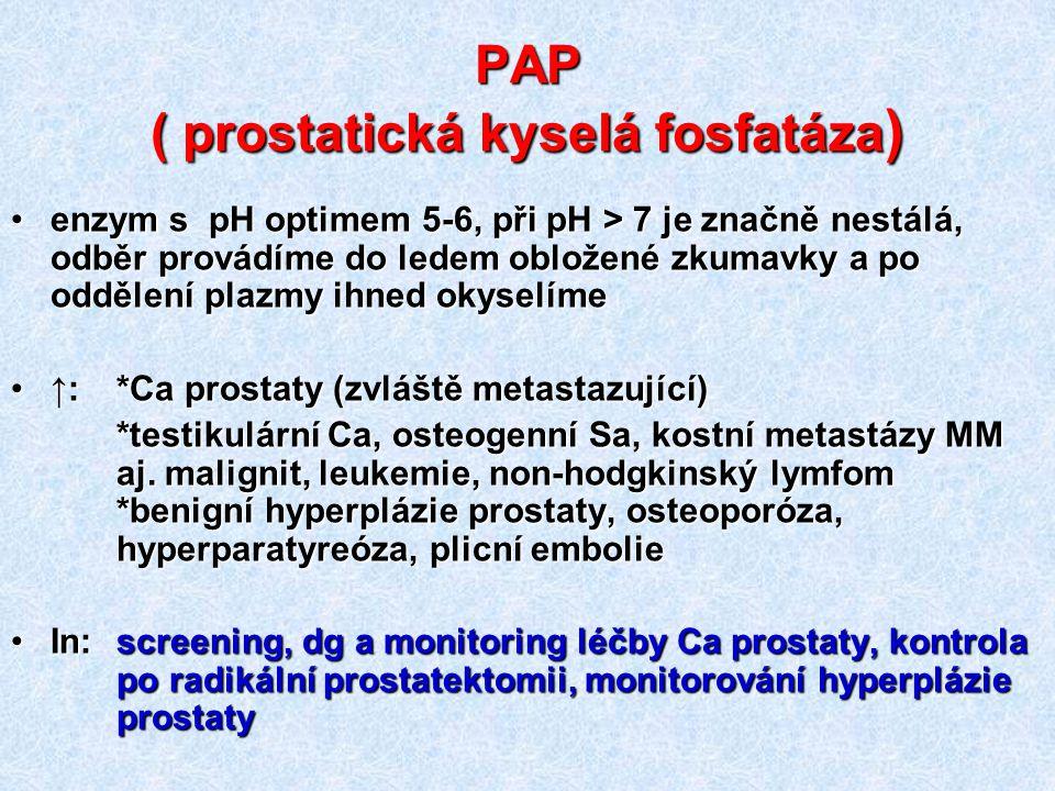 PAP ( prostatická kyselá fosfatáza)
