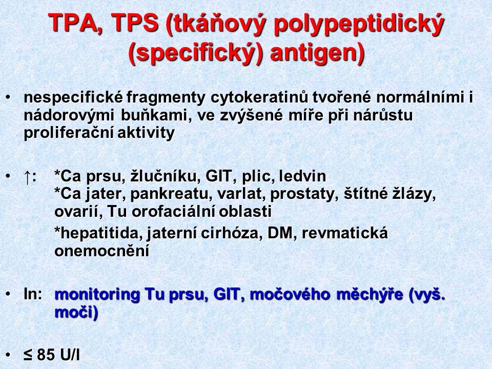 TPA, TPS (tkáňový polypeptidický (specifický) antigen)
