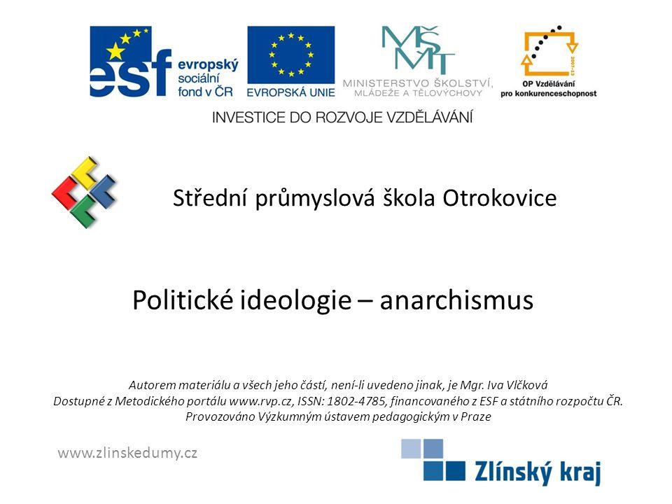 Politické ideologie – anarchismus