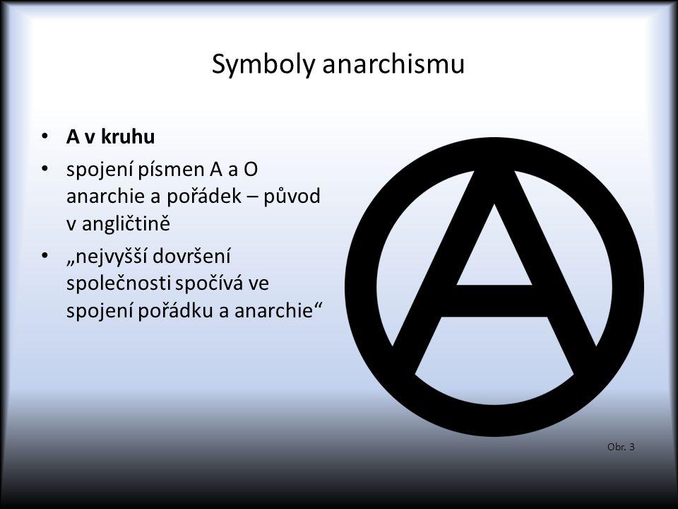 Symboly anarchismu A v kruhu