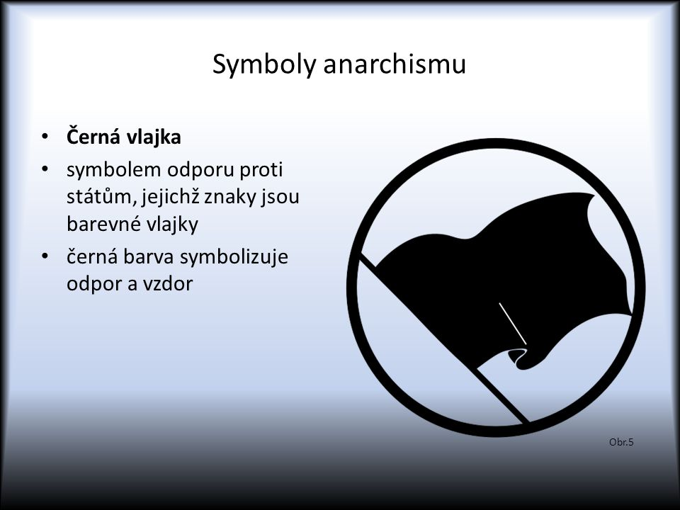 Symboly anarchismu Černá vlajka