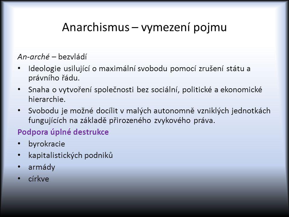 Anarchismus – vymezení pojmu