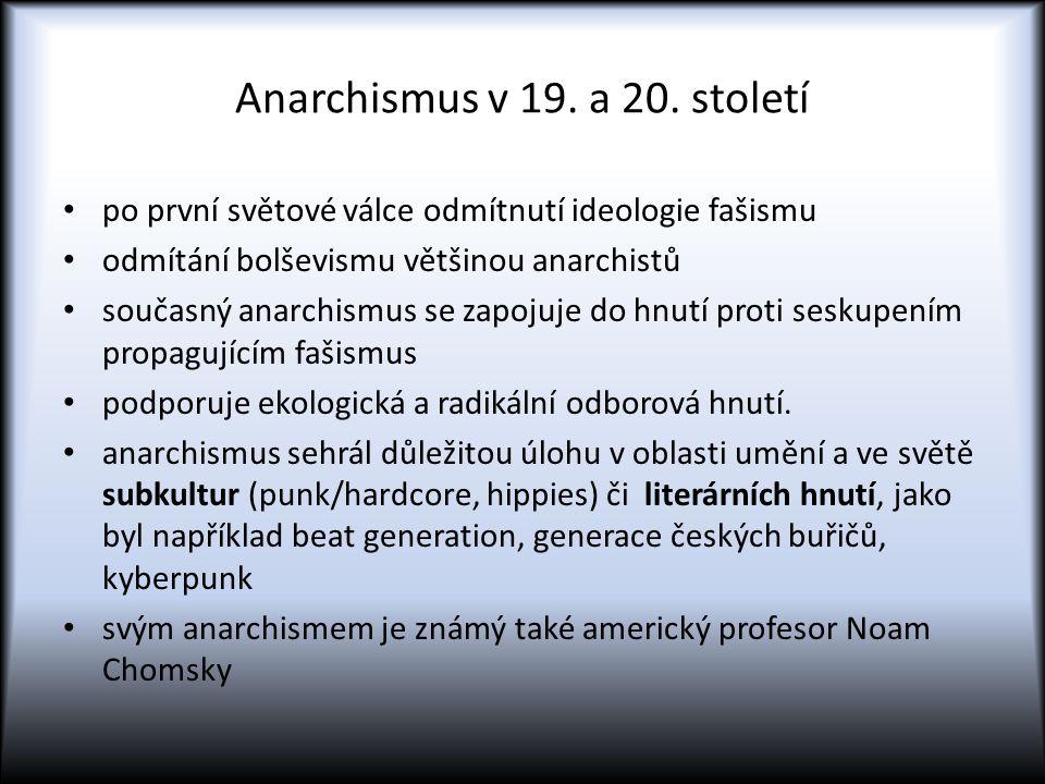 Anarchismus v 19. a 20. století