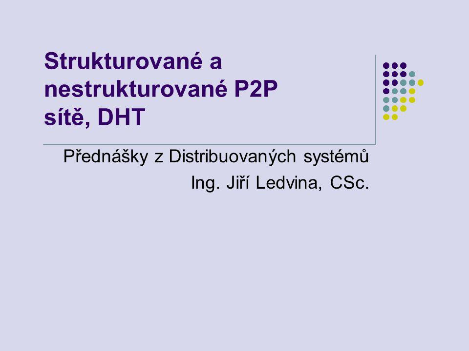 Strukturované a nestrukturované P2P sítě, DHT
