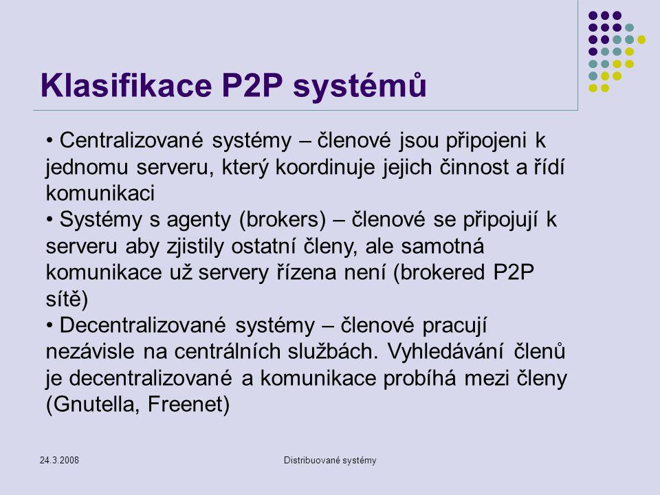 Klasifikace P2P systémů