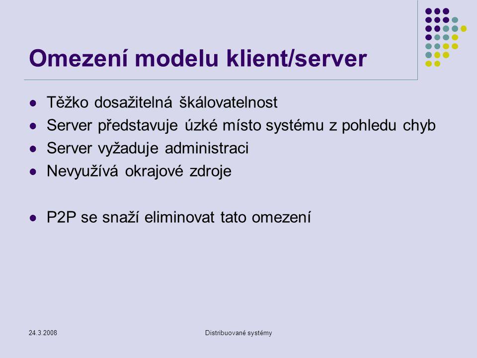 Omezení modelu klient/server
