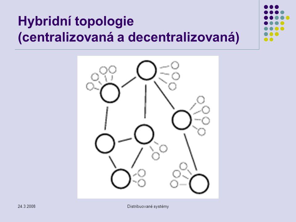 Hybridní topologie (centralizovaná a decentralizovaná)