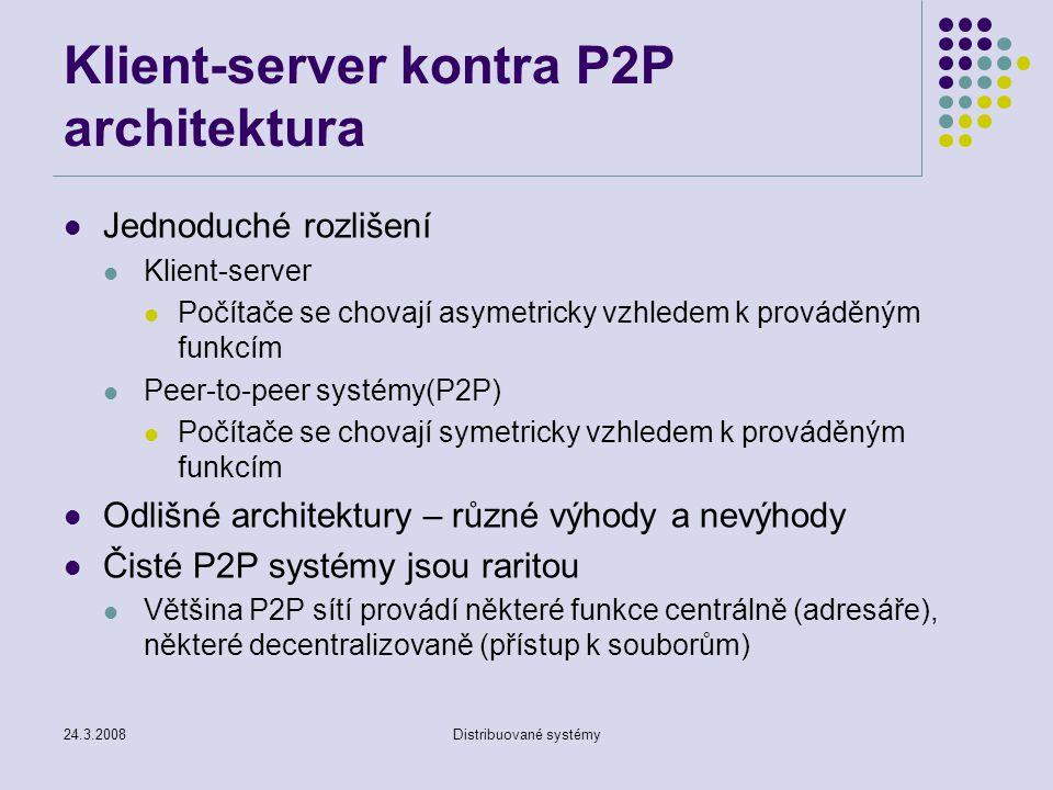Klient-server kontra P2P architektura