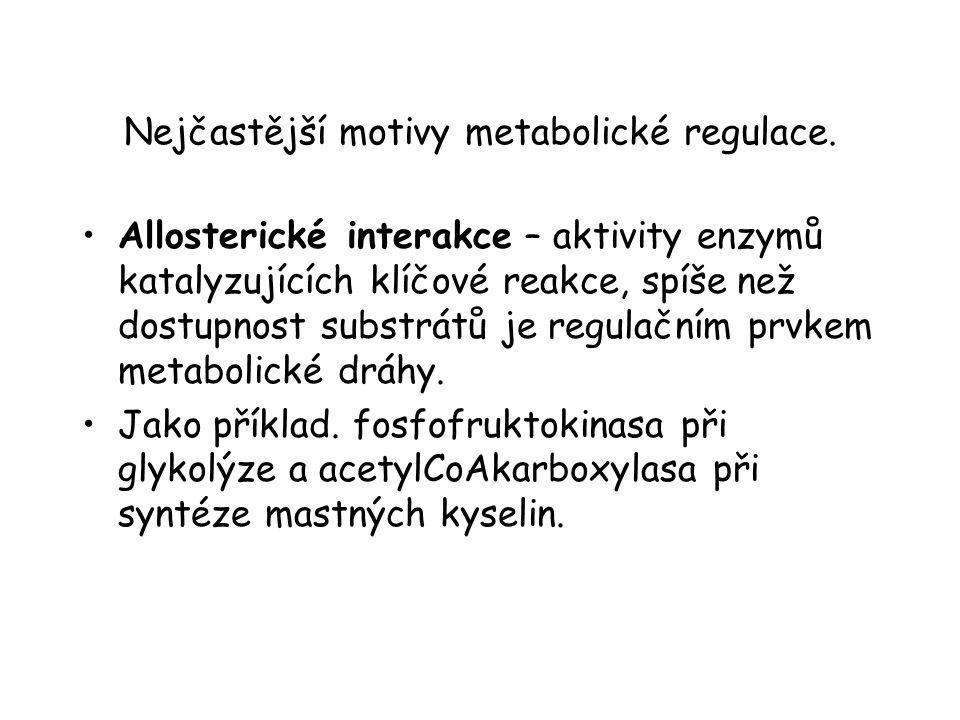 Nejčastější motivy metabolické regulace.