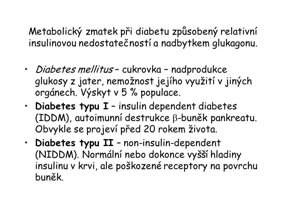 Metabolický zmatek při diabetu způsobený relativní insulinovou nedostatečností a nadbytkem glukagonu.