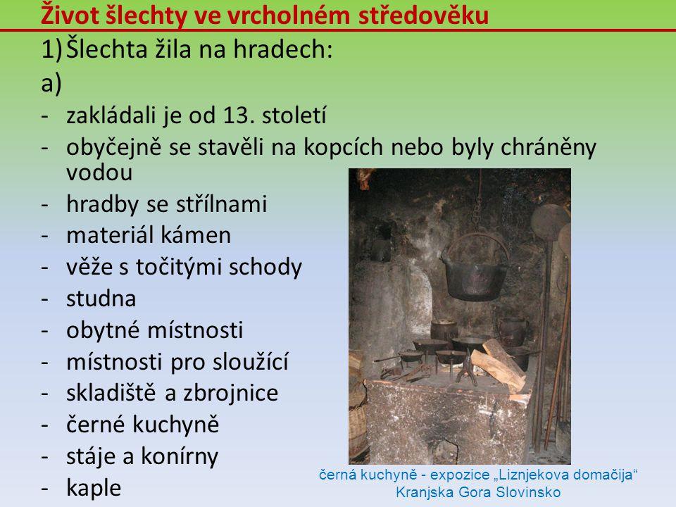 """černá kuchyně - expozice """"Liznjekova domačija Kranjska Gora Slovinsko"""