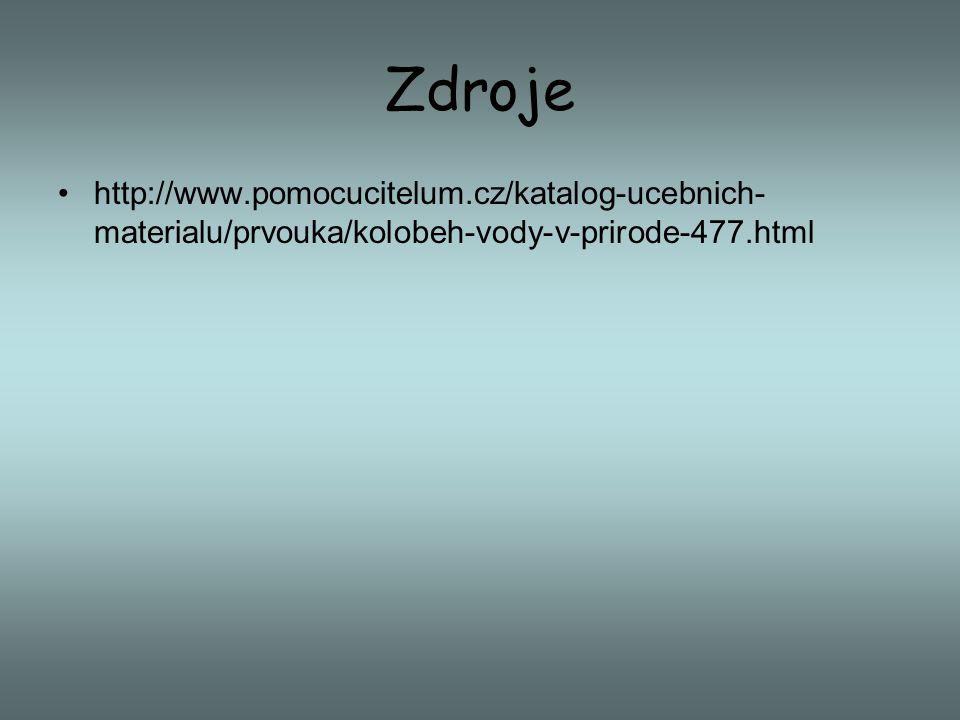 Zdroje http://www.pomocucitelum.cz/katalog-ucebnich-materialu/prvouka/kolobeh-vody-v-prirode-477.html.