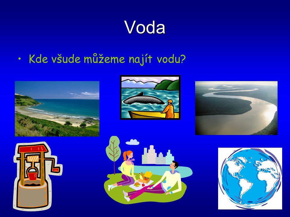 Voda Kde všude můžeme najít vodu