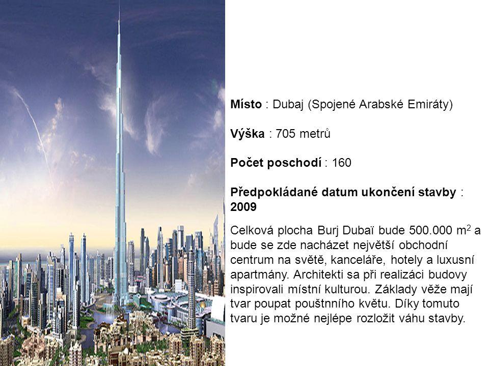 Místo : Dubaj (Spojené Arabské Emiráty)