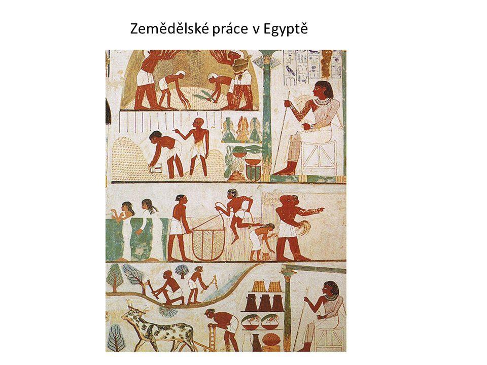 Zemědělské práce v Egyptě