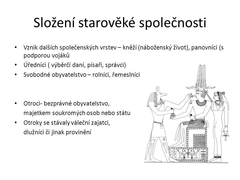 Složení starověké společnosti