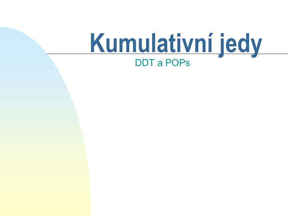 Kumulativní jedy DDT a POPs