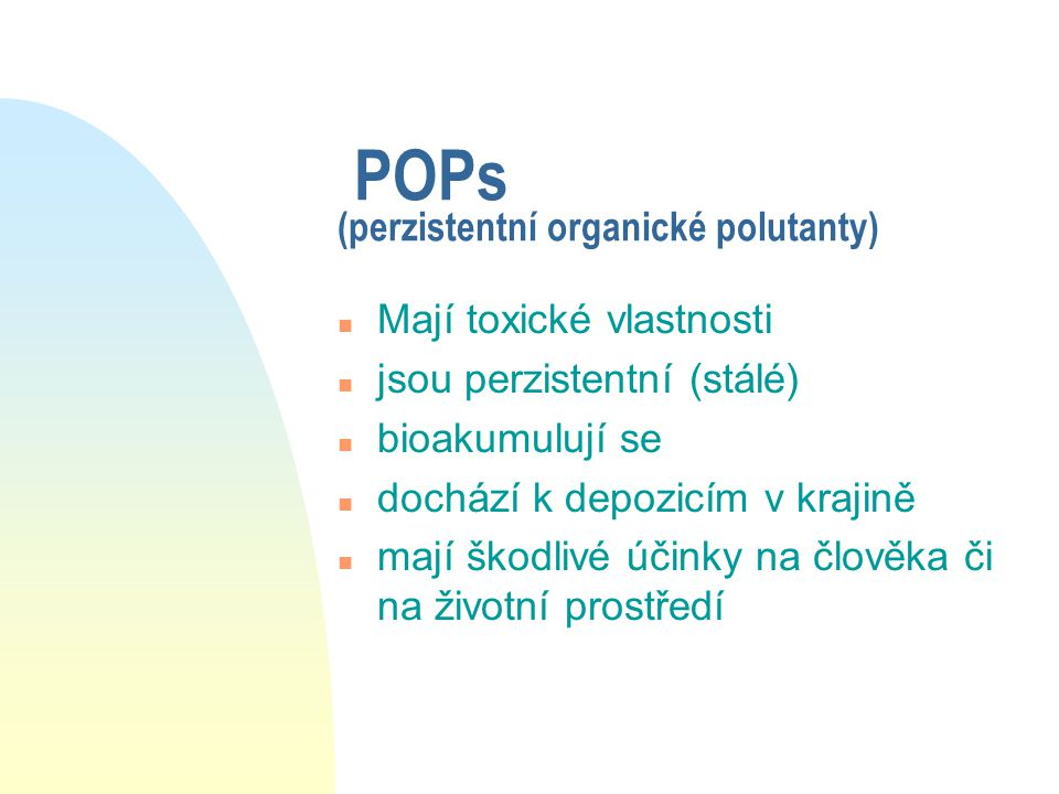 POPs (perzistentní organické polutanty)