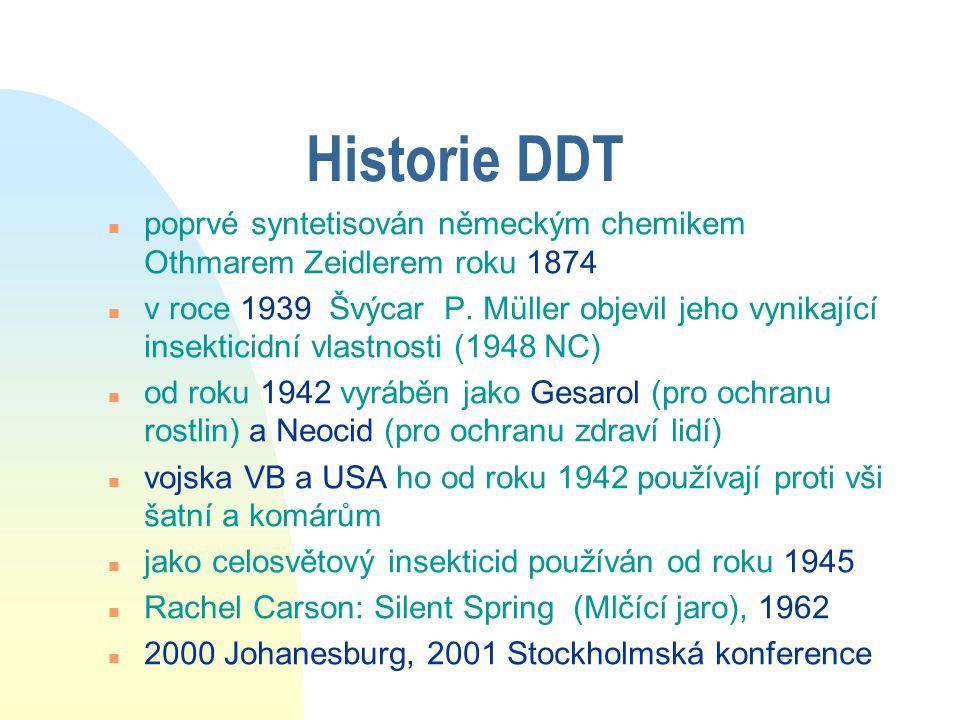Historie DDT poprvé syntetisován německým chemikem Othmarem Zeidlerem roku 1874.