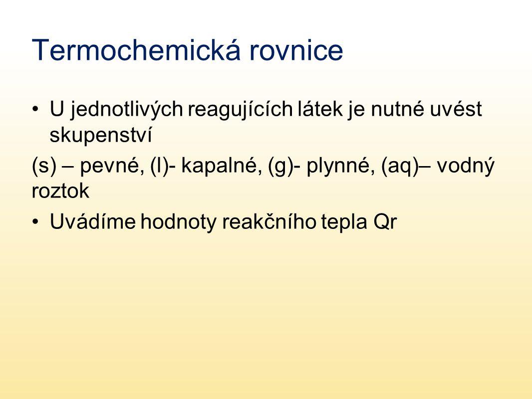Termochemická rovnice