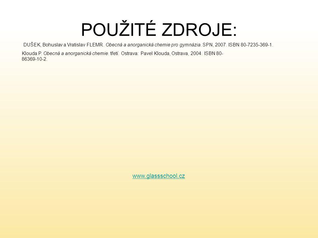 POUŽITÉ ZDROJE: www.glassschool.cz