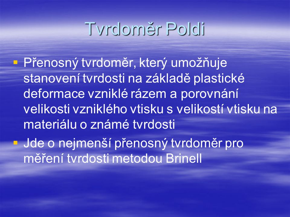 Tvrdoměr Poldi