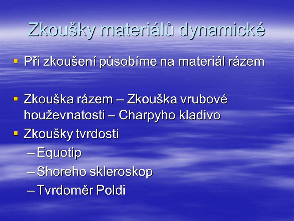Zkoušky materiálů dynamické