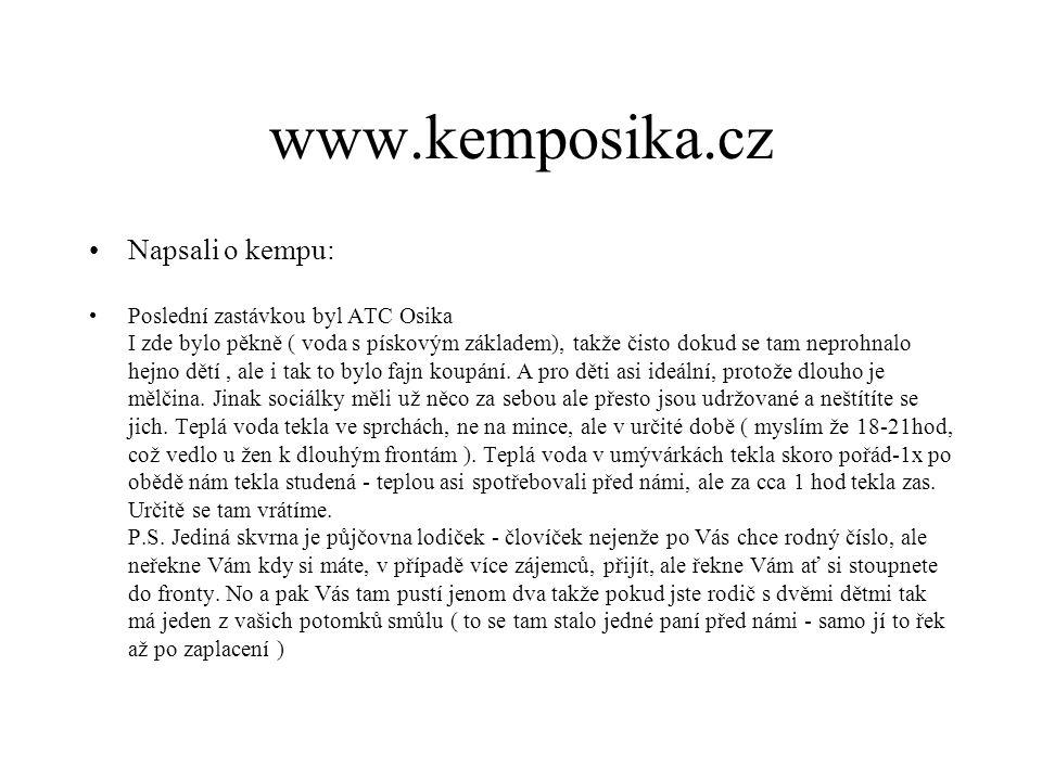 www.kemposika.cz Napsali o kempu: