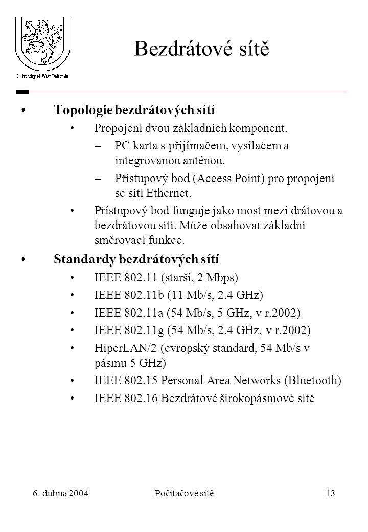 Bezdrátové sítě Topologie bezdrátových sítí
